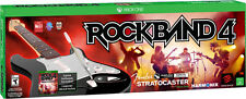 NEW Rock Band 4 Xbox One  Bundle Software Fender Stratocaster Guitar  Mfg Sealed