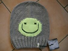 (M61) Grobstrick Mütze FREAKY HEADS Beanie Wintermütze Happy Face mit Logo Flag