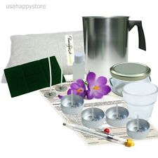 Scented Soy Candle Making Kit Thermometer Glass Jar Votive Tea Lights Starter