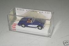 Busch 1:87 H0  45406 Chevrolet Corvette Cabrio blau/weiß RAR !!! OVP(E9807)