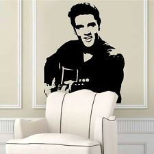 Elvis Presley Playing Guitar Art Wall Stickers Removable Wall Decals Home Decor