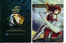 Warrior Token FOIL | NM | altered Art Promo - Tokens for MTG | Magic MTG