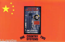 HONG KONG FOREVER CHINA'S 1/7/1997 One Country Two Systems PP Phone Card $10