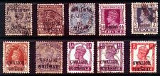 GWALIOR STATE-10 Different Used-India Convention State-Victoria, King George V