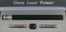 POWERFUL BLACK 532nm APC GREEN LASER POINTER PEN WITH CONSTANT ON/OFF