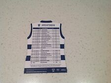 AFL GEELONG CATS OFFICIAL GENUINE FIXTURE  MAGNET, OFFICIAL ATTRACTIVE ITEM