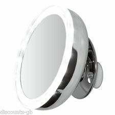 "Clearview LED Illuminato ASPIRAZIONE MONTATO 5 ""MIRROR - 5x ingrandita BATT gestito"