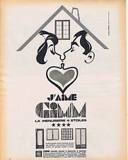 Publicité Advertising 016 1968 Gimm la menuiserie 4 étoiles