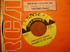 RIPETE 45 RECORD/CHAIRMAN OF THE BOARD/GIVE ME A JUST LITTLE MORE TIME/TUESDAY