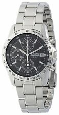100% Authentic! SEIKO SND367P1 Chronograph Black Dial Men's Watch New Japan