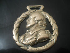 Vintage Shakespeare In Wreath - Horse Brass