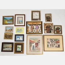 A Miscellaneous Collection of Framed Watercolor and Oil Paintings by ... Lot 434