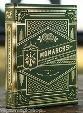 Monarchs Green Deck Playing Cards Poker Size Theory11 USPCC Limited New & Sealed