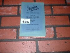 GENUINE AUSTIN TWENTY 20 ILLUSTRATED SPARE PARTS BOOK.1930. PUBLICATION NO 614C