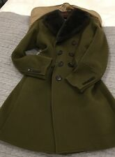 Burberry Prorsum London Men's  Military Coat Green With Fur Collar Size 52 Euro