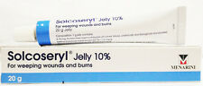 Solcoseryl Jelly 10% 20g Leg Ulcers Weeping Burns Wounds Skin Treatment Heal