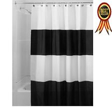 Waterproof Shower Curtain Black And White Modern Home Bathroom Decor Striped New