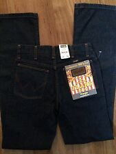 AUTHENTIC 70s CUT WRANGLER JEANS FLARE DENIM SIZE 28 WAIST 34 LENGTH DARK BLUE