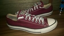 All Star Converse maroon burgundy canvas men's trainers size 8 / 41.5