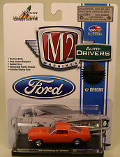 M2MACHINE 1:64 SCALE DIECAST METAL SOLID ORANGE 1965 FORD MUSTANG 2+2 FASTBACK
