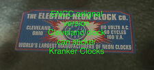 ENCC electric neon clock cleveland original version can sticker re make new