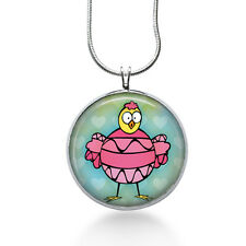 Easter Chick Necklace - Easter Jewelry - Handmade - Art Pendant