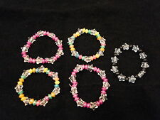 5x Bracelets - party bag fillers toys girls Max £1 post