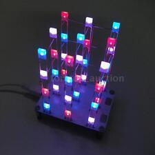 40pcs LEDs Light Cube Sound/Light Control Electronic DIY Kit Multi-Color N4N6
