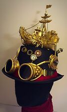 Steampunk Hat . Boat Pirate Tesla Victorian Cosplay Elite Party