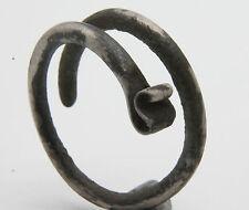 ANCIENT Celtic Period Silver Coiled Spiral Ring  500 B.C. VF+++