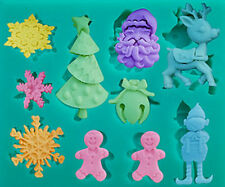 Christmas Assortment 10 cavities Pink Silicone Mold - Candy, Fondant, Crafts