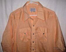 Rockmount Size 17 1/2 - 35 Long Sleeve Snap Front Western Dress Shirt USA