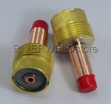 995795 1/8'' Large Diameter TIG Gas Lens Collet Bodies SR WP 17 18 26 Torch 2PK