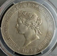 1867, Hong Kong (British Government). Large Silver Dollar Coin. PCGS XF+