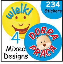 Teacher's reward stickers, Polish good behaviour, school and nursery