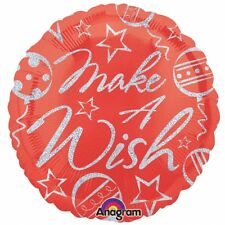 """Make a Wish Sparkles 18"""" Round Helium Foil Balloons Birthday Party Decoration"""