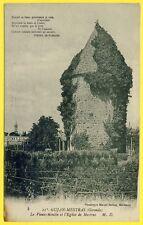 cpa RARE Bassin d'Arcachon GUJAN MESTRAS (Gironde) Le Veux MOULIN et l'Église