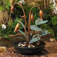 Bird Design Flowers Leaf Indoor/Outdoor Water Fountain