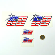 4 STICKER NICKY HAYDEN 69 MOTO GP CASCO AUTO ADESIVO VINILE DECALCOMANIA PJ063