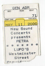 PETRA Ticket CONCERT Stub TOUR Lupo's Heartbreak Hotel PROVIDENCE Rhode Island