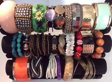 Job Lot 25 Fabulous Bead Metal Wood Bangles Bracelets Some Vintage Mostly Modern
