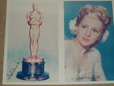 Joan Fontaine Double Hand Signed Autographed 8x10 photo