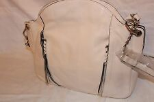 orYANY Danielle Italian Leather Convertible Shoulder Bag Purse - White