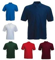Mens Lightweight Pique Polo T Shirts Size S to 4XL SPORTS & CASUAL - BK510