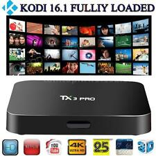 S905X TX3 Pro Smart TV Box Android 6.0 Quad Core 8GB XBMC KODI Fully Loaded D9E3