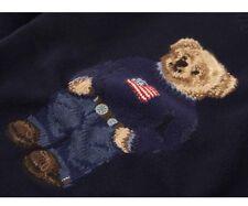 Polo Ralph Lauren Polo Bear Intarsia Knit XL Navy Sweater MSRP $265