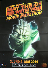 Star Wars Movie Marathon Filmposter A1 Yoda May The 4th be with you Skywalker