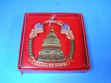 America United we stand USA Flag gold Ornament Capitol Building Patriotic