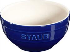 Staub Keramik 6 er Set Schale Schüssel Desertschale, klein dunkelblau 12 cm Cera