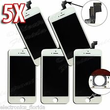 LOT of 5x White LCD Screen Replacement Digitizer Glass Assembly For iPhone 5S
